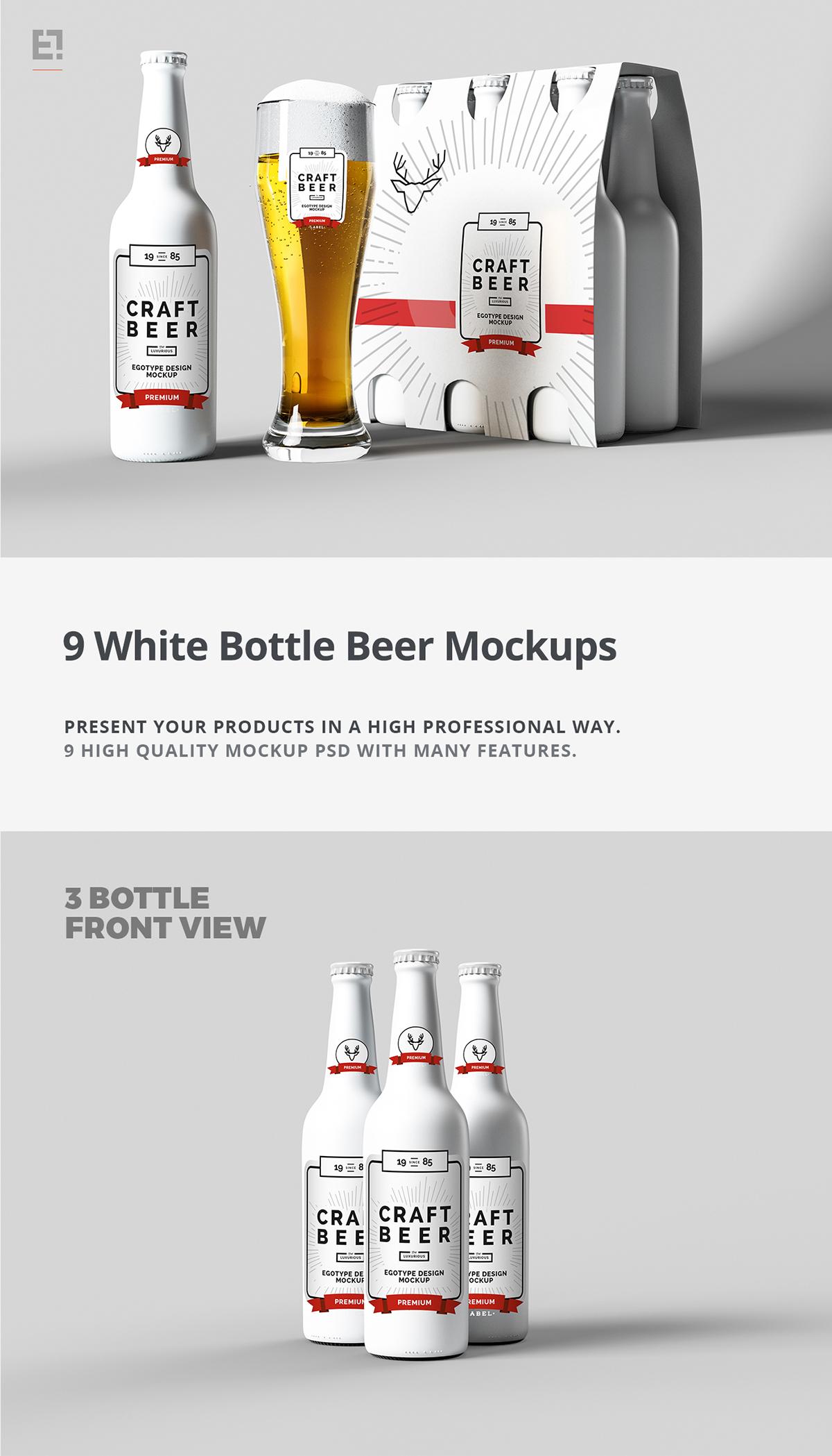 Beer Bottles And Six Pack Mock Up On Behance