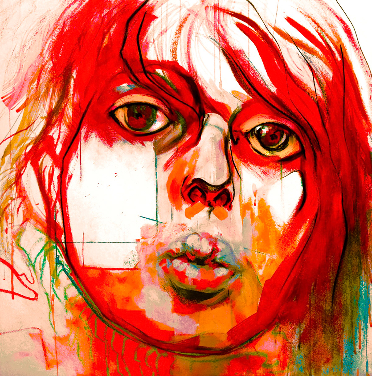 painting   Drawing  portrait tempera charcoal pastel