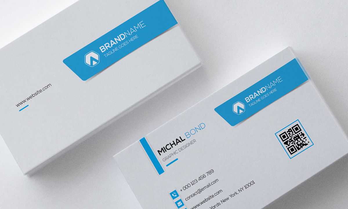 Clean professional business card template on behance wajeb Gallery