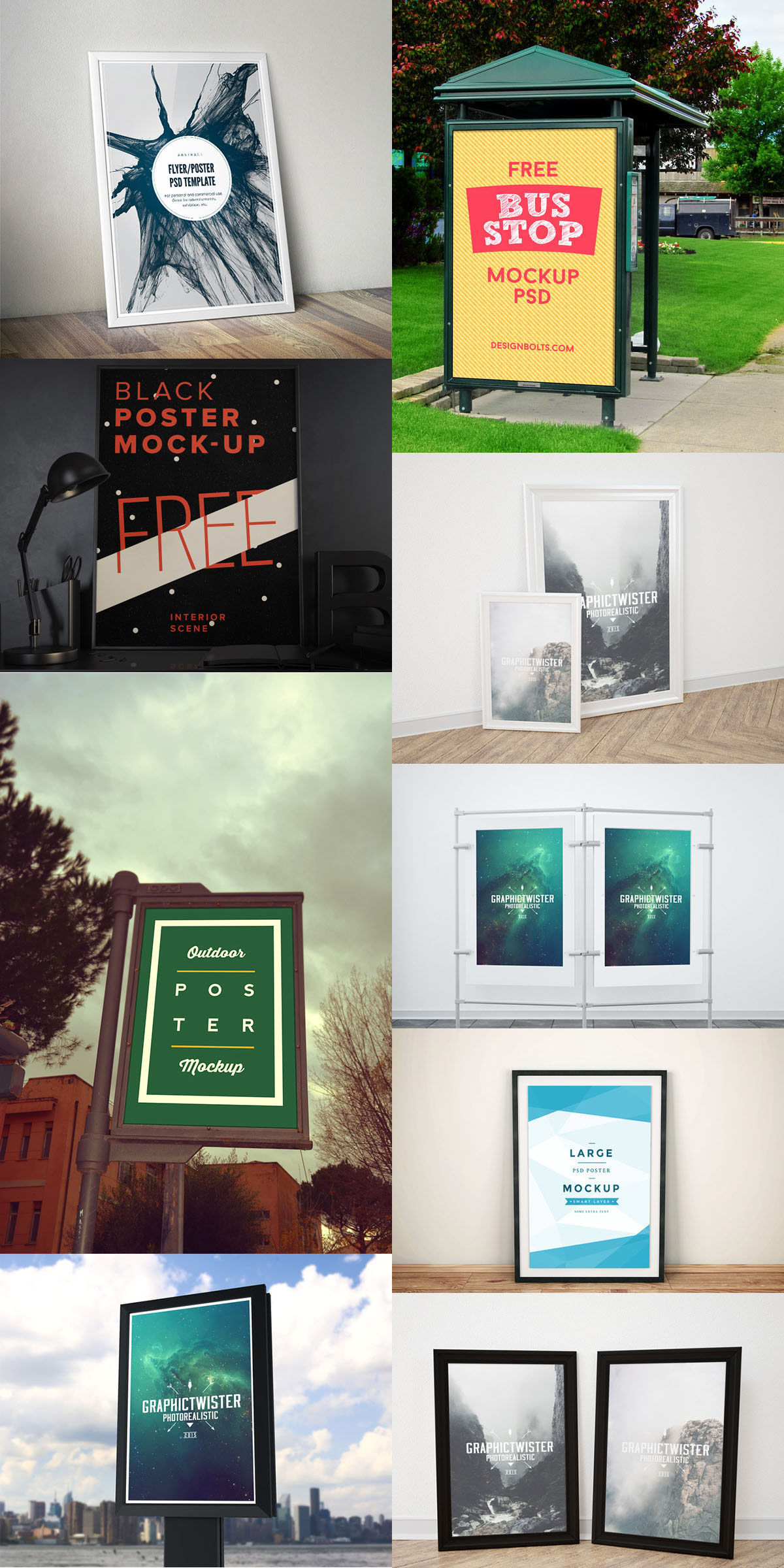 poster flyer free mock up templates june 2015 edition on behance