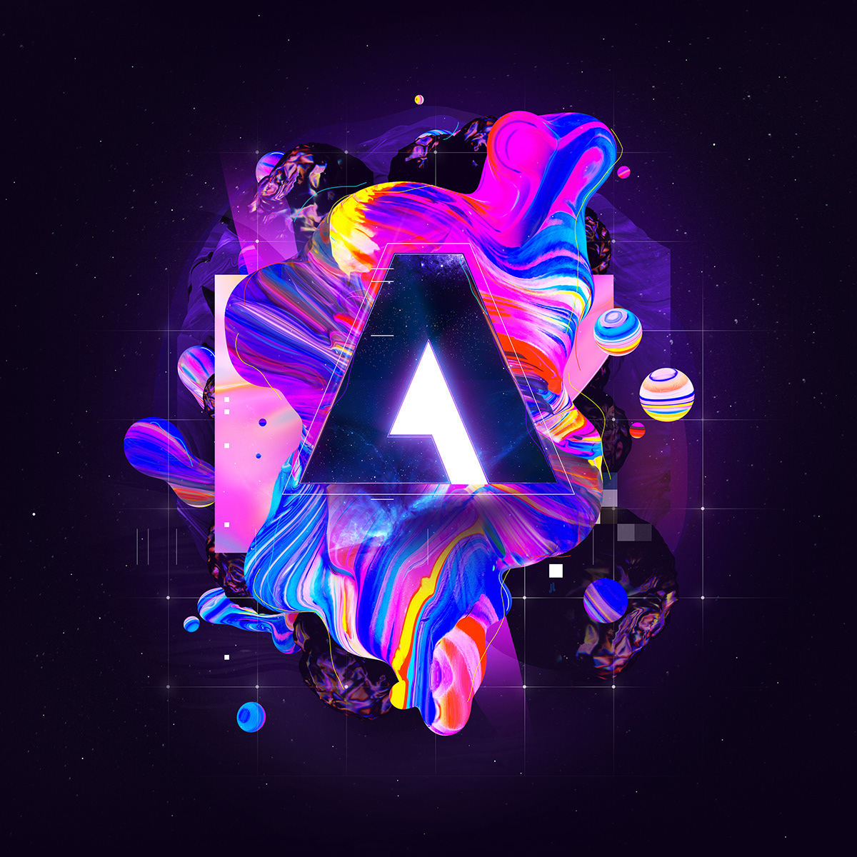 logo design adobe brand NATALIE SHAU digital branding Adobe Remix Adobe Logo Alex trochut The Made Shop Sagmeister & Walsh Andres Amador Robert Hodgin gmunk Goodby
