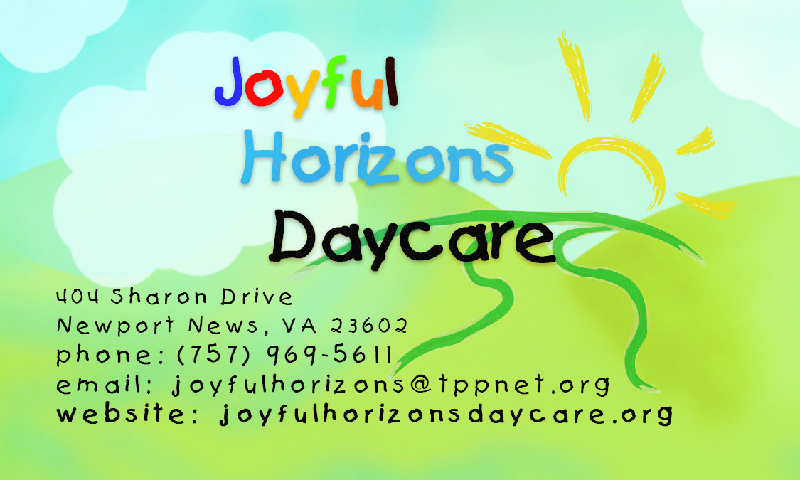 Katherine Harper - Joyful Horizon\'s Daycare Business Cards