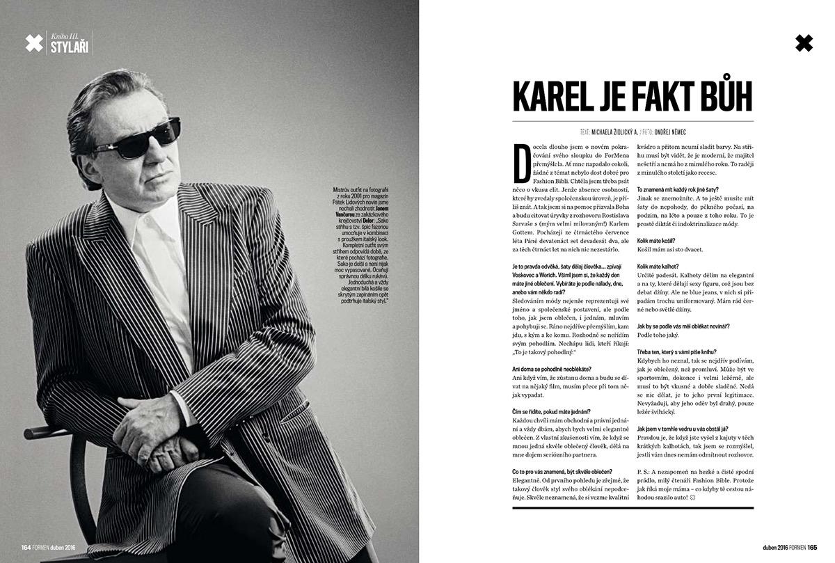 article text karel gott column magazine dress code redactor journalism   talk interview