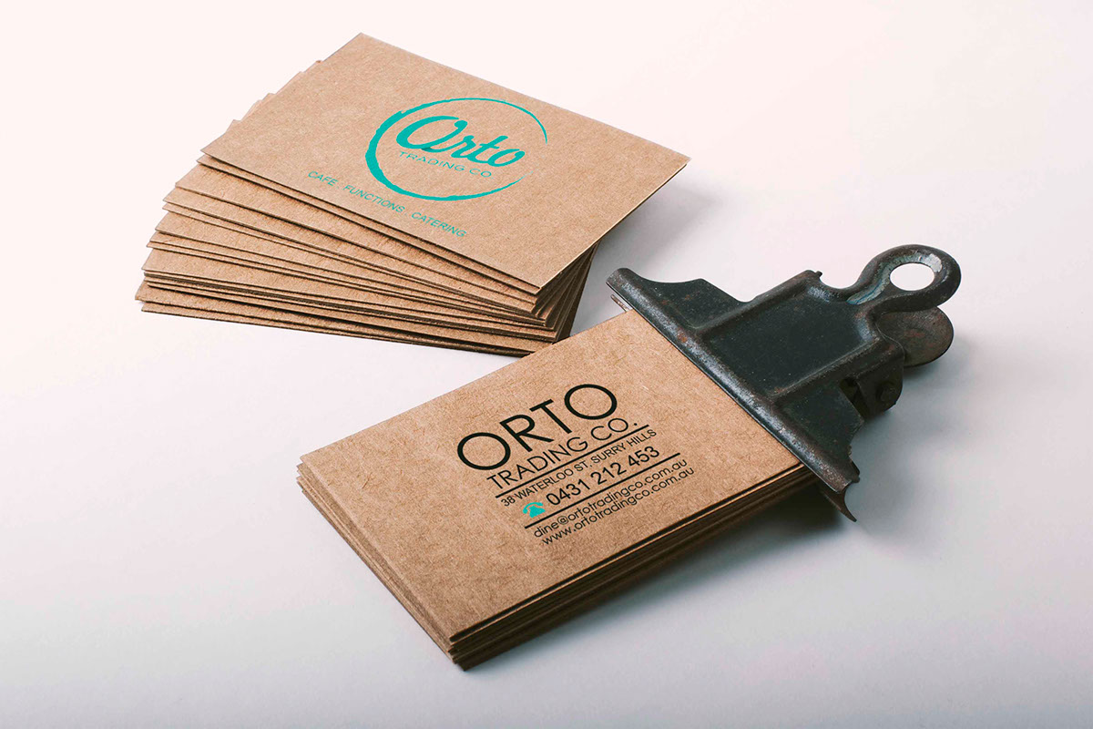 Orto business card design on behance reheart Image collections