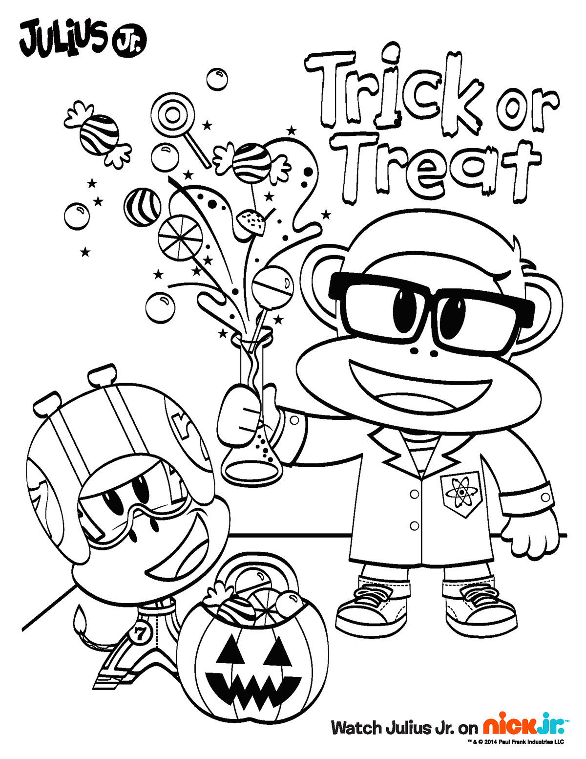 nickelodeon halloween coloring pages - photo#28