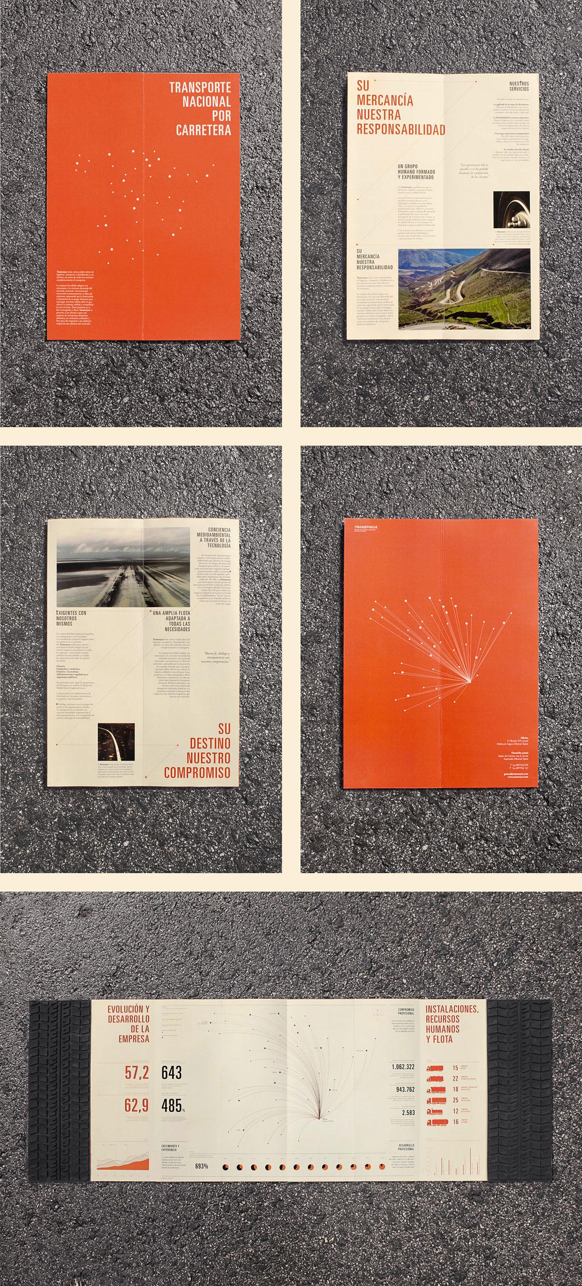 Layout brochure infographics print latex Transport Tire