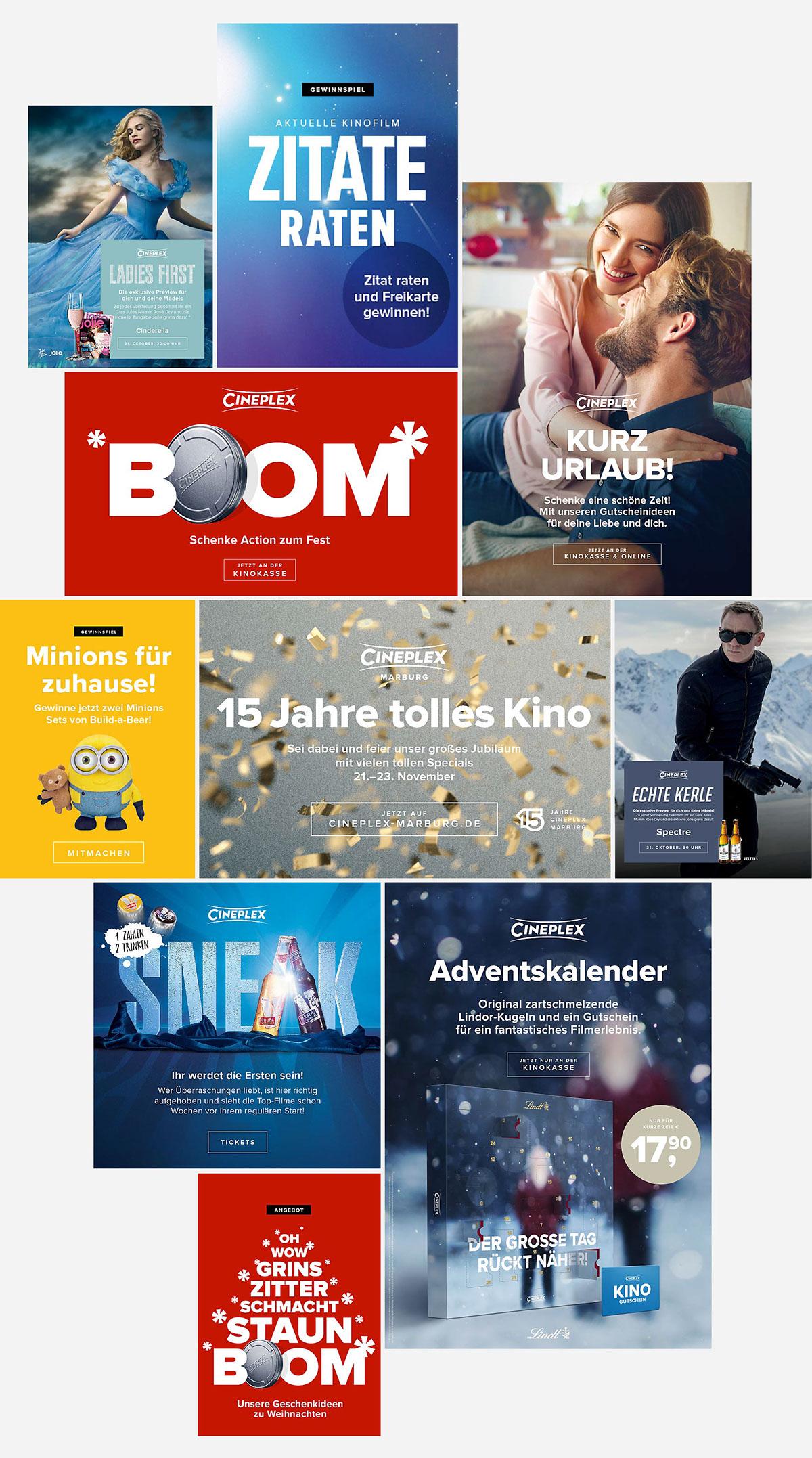 Cinema Gutscheine Kampagne kino campaign