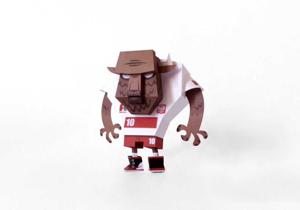 paper soccer football papertoy craft papier etno bison free poland TOUGUI toy