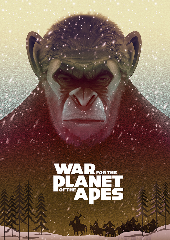 war for the planet of the apes fan art on behance