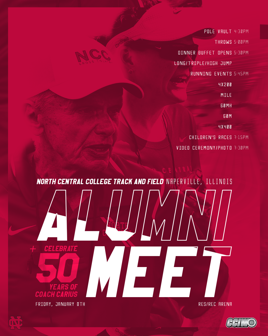 2016 Ncc Track And Field Alumni Meet Poster On Behance
