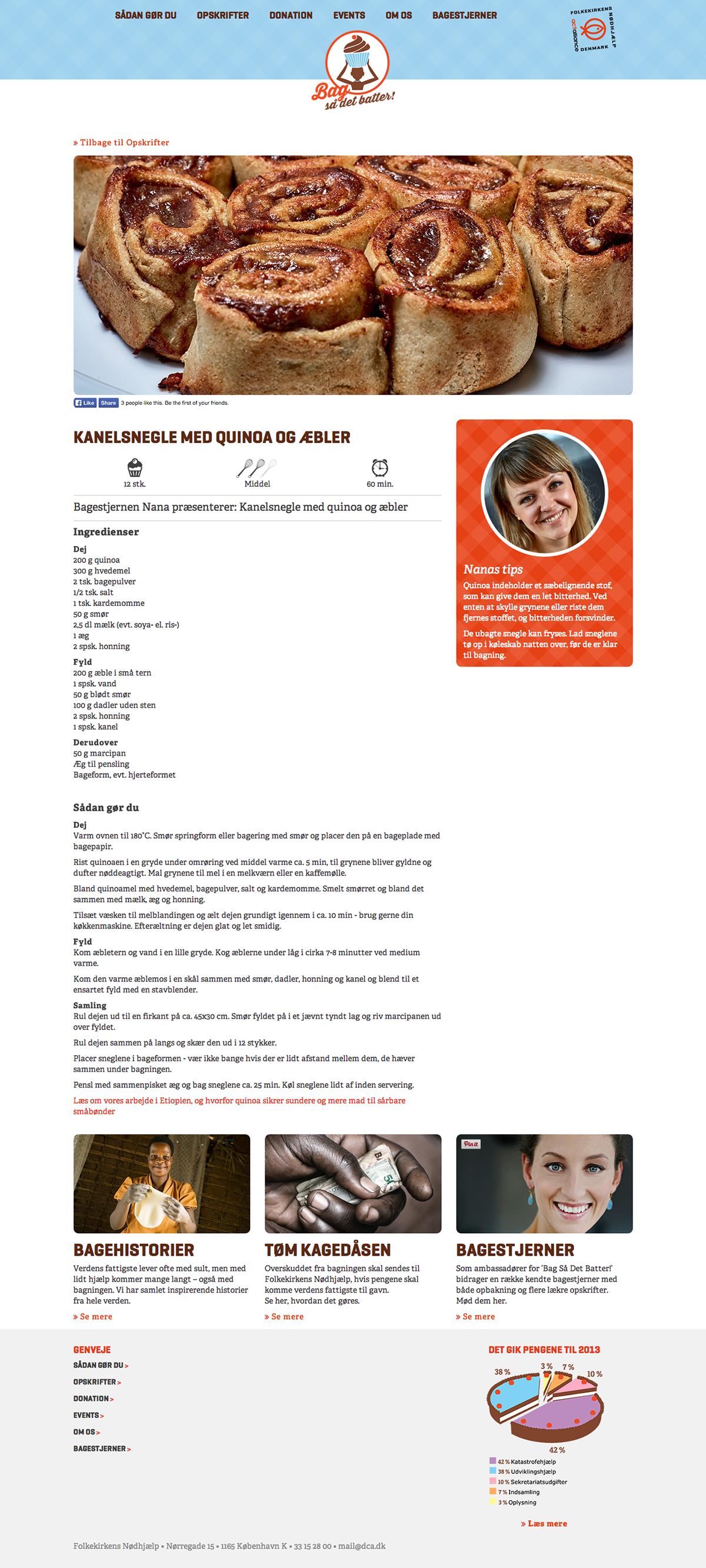 Website NGO baking charity donate