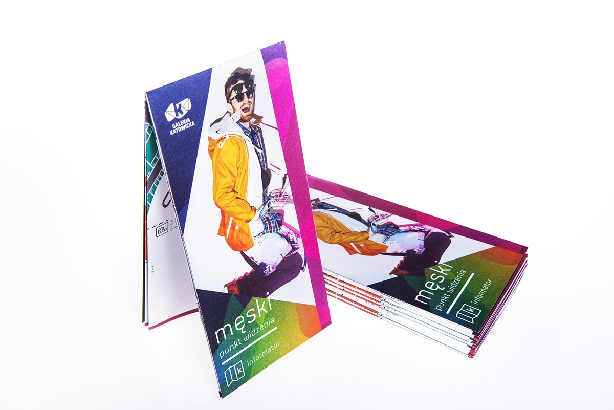 leaflet brochure map Shopping mall printed flyer