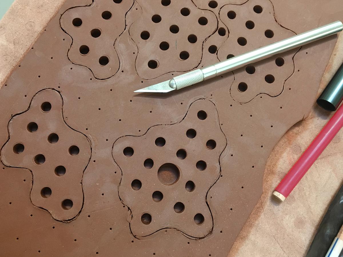 ceramic sculpture sculpture clay geometry Harvard Ceramics Program inspire dots