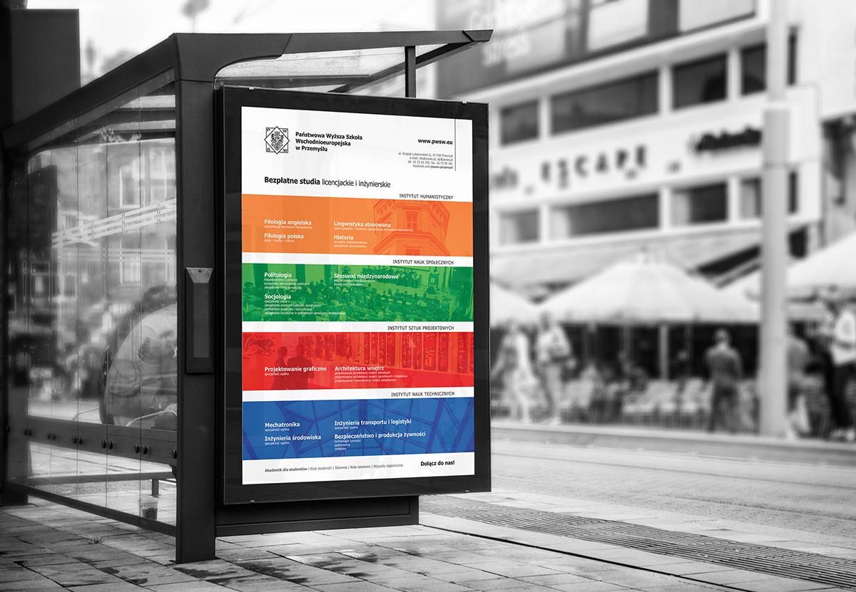 Przemyśl University Pwsw Promotional Materials identyfikacja grafika uzytkowa Materiały promocyjne materiały reklamowe Juliusz Bachta bachta.info