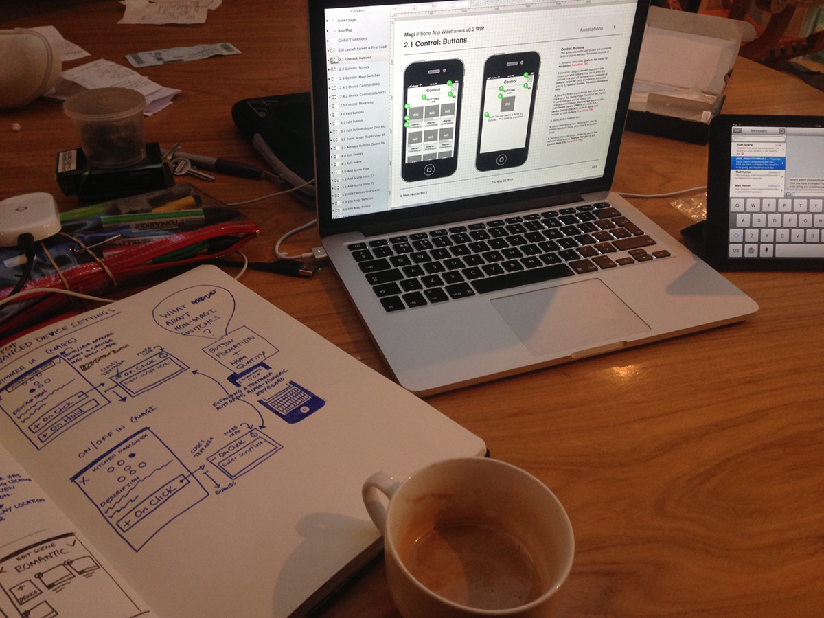 IoT Smart Home ios iphone app mobile design ux wireframes  tappable protypes ui style guide Website