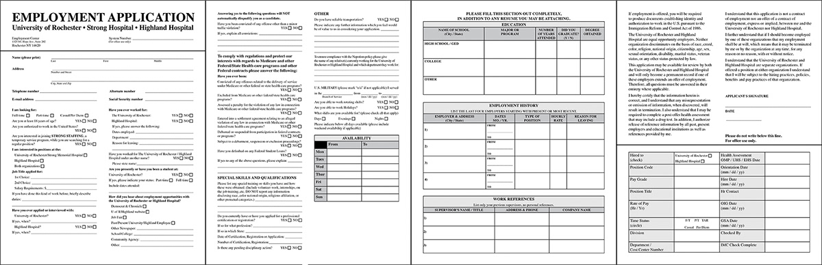 Job Application Layout on Behance