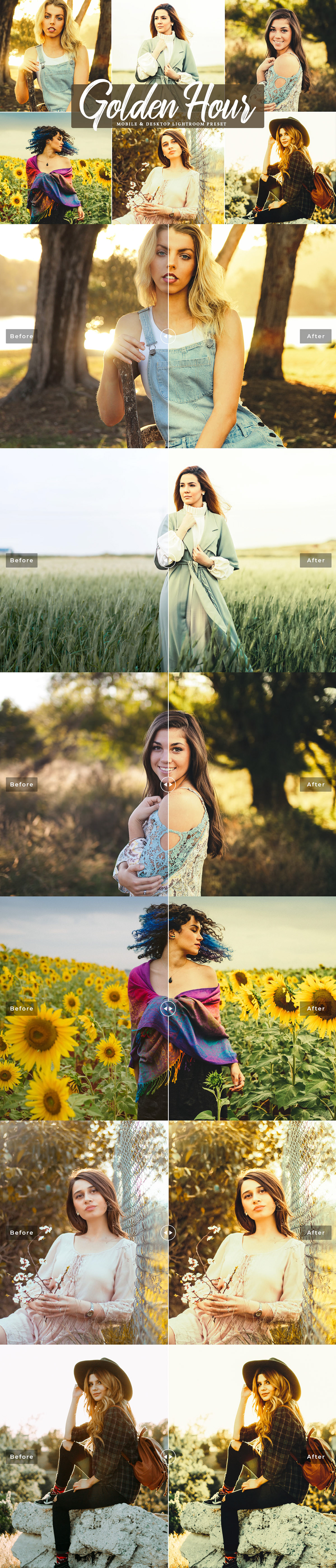 Free Golden Hour Mobile & Desktop Lightroom Preset on Wacom
