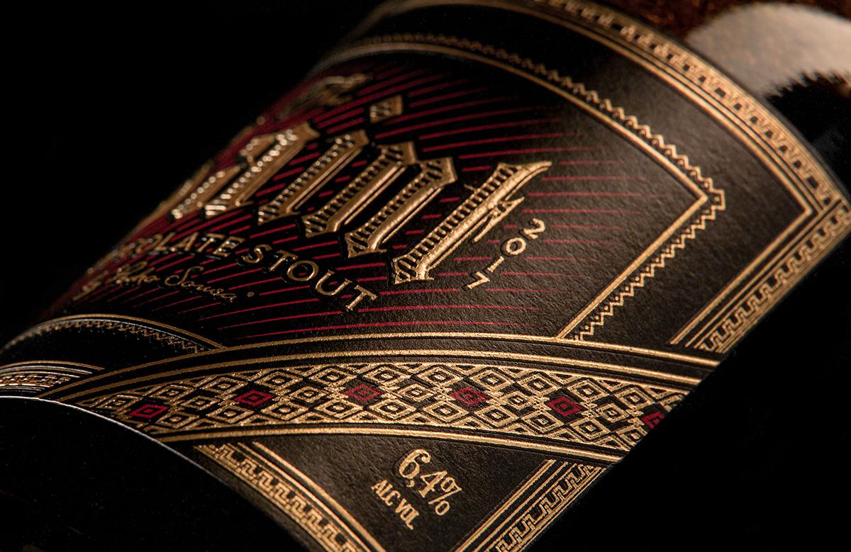 Adobe Portfolio premium gin Whiskey craft beer Label Packaging rótulo artesanal Chocolate Stout