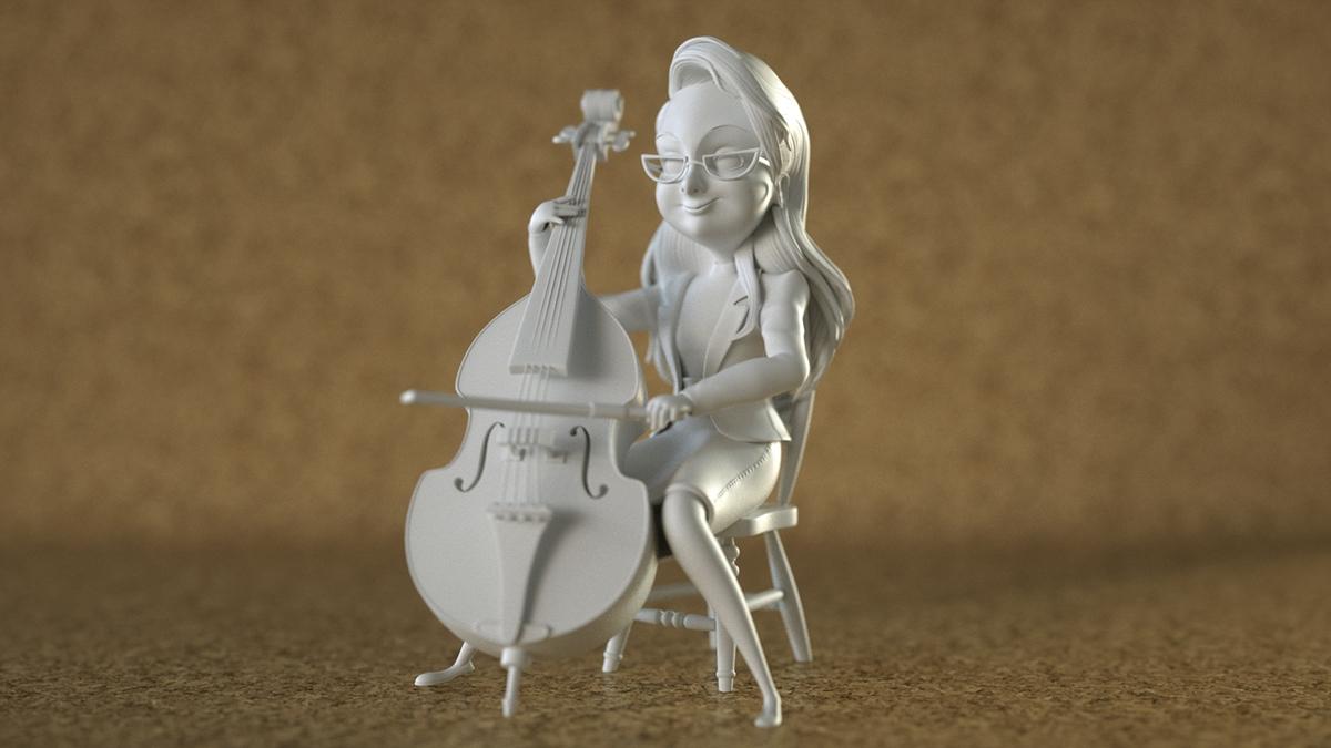 delicatessen julie Zbrush 3D Octane Render
