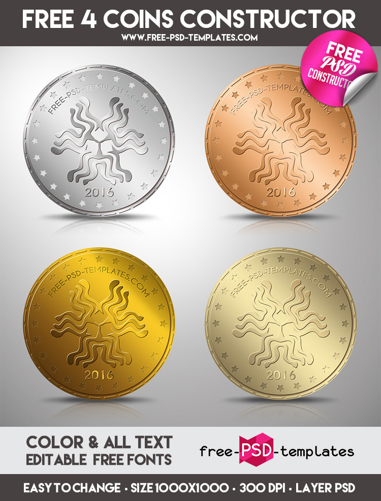 FREE COINS CONSTRUCTOR IN PSD on Behance