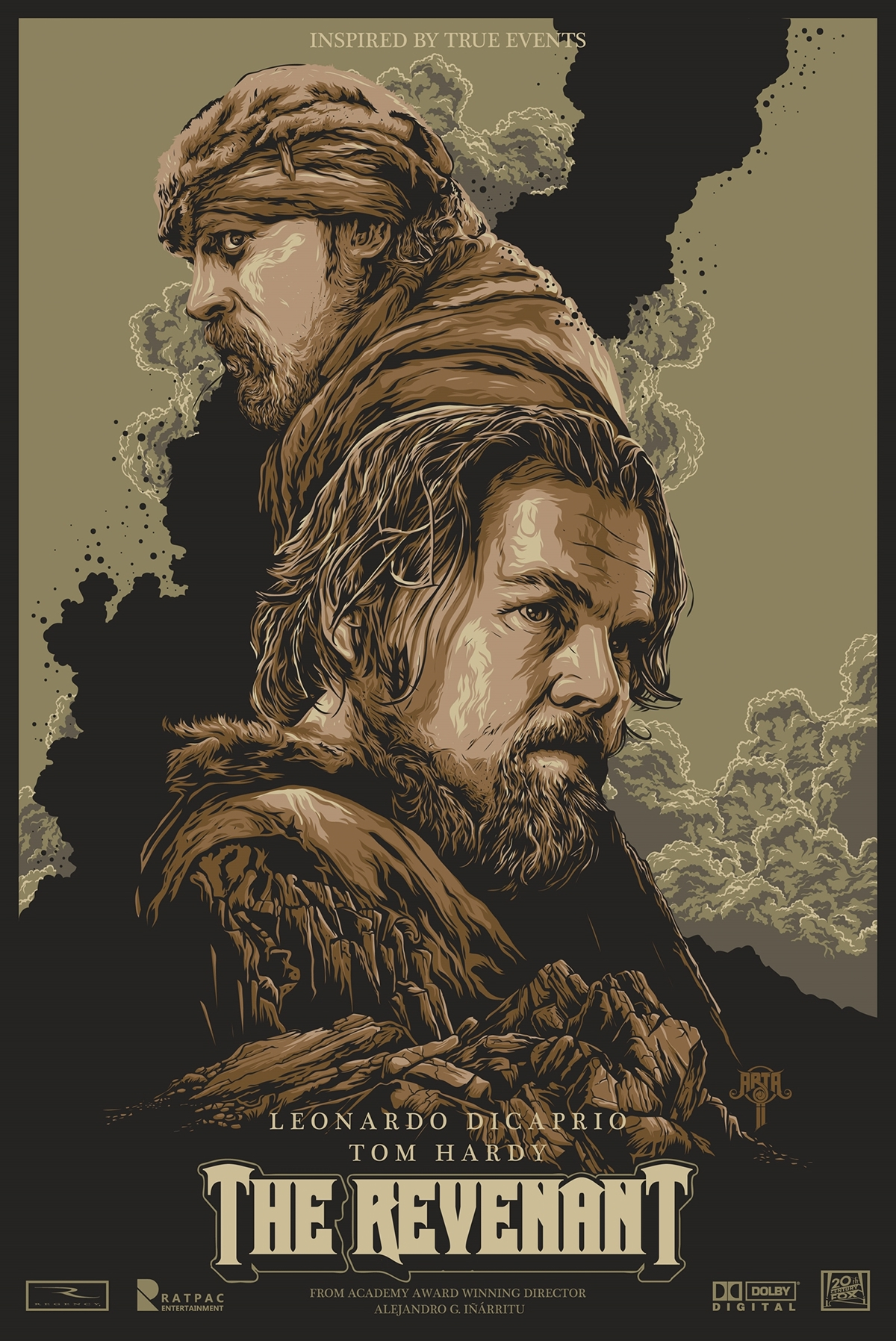 the revenant unofficial fanart movie poster on behance