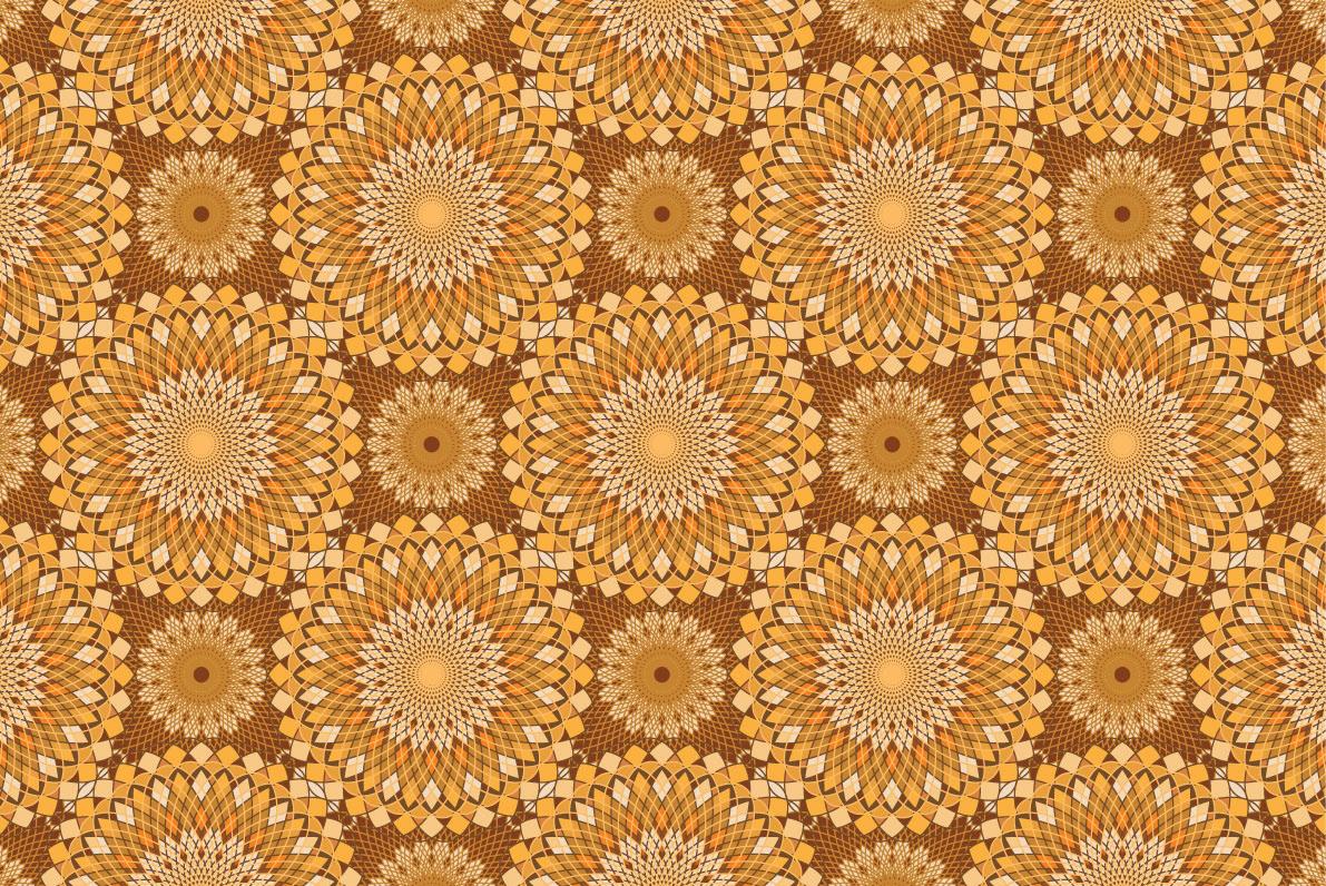 pattern brown orange Colourful  doily