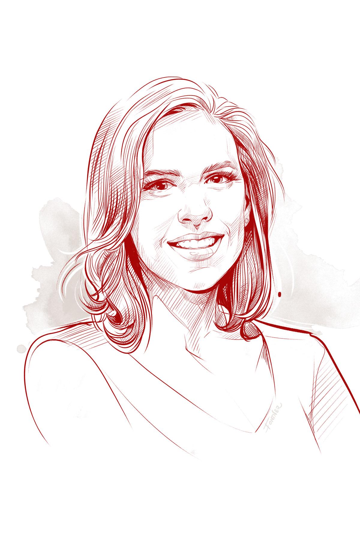 digital portrait Drawing  portrait sketch portraitart