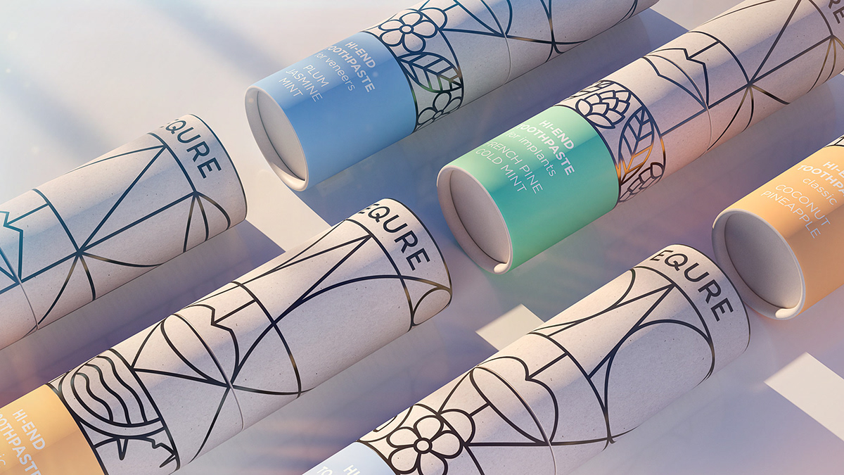 Art Deco Inspired Equre Packaging by Repina Branding Agency