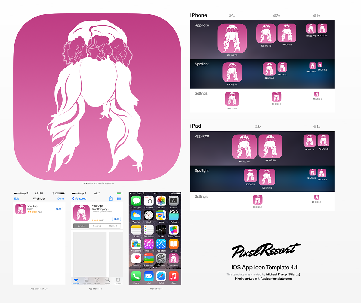 Icon app magazine girl pink
