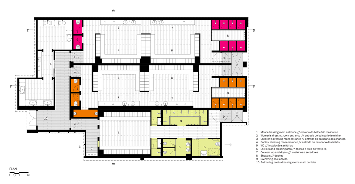 Swimming Pool Changing Room Plan Area Not Locker Room Talk Photo Courtesy Of According