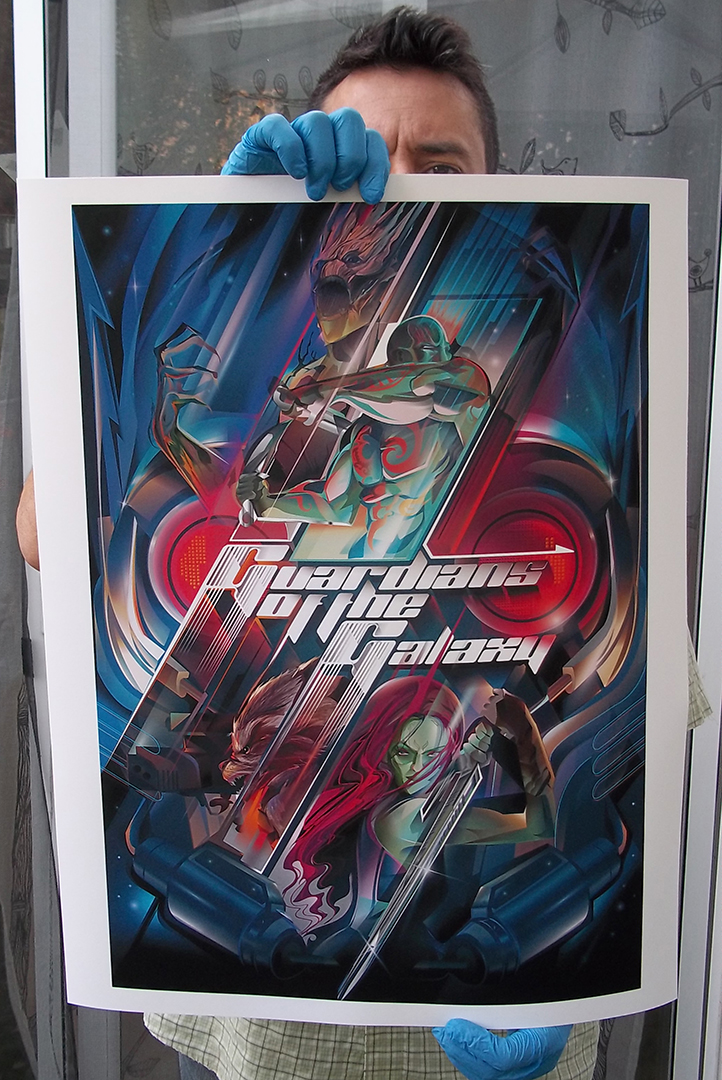 guardians of the galaxyvector tribute on behance
