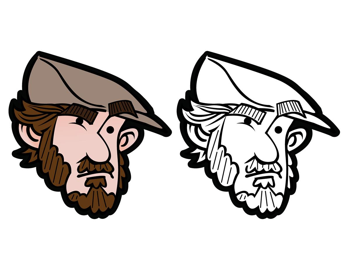 vector Logotype Character design  apparel streetwear