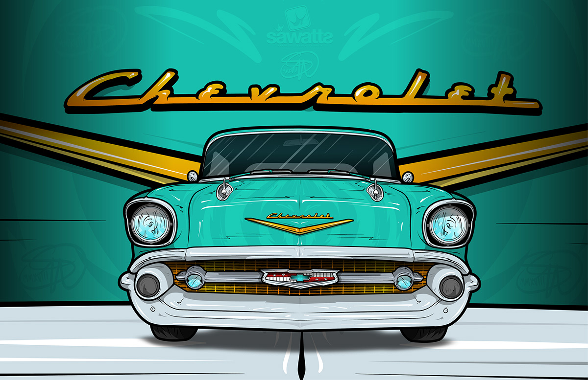 57 Chevy Bel Air Logo (1200 x 777 Pixel)