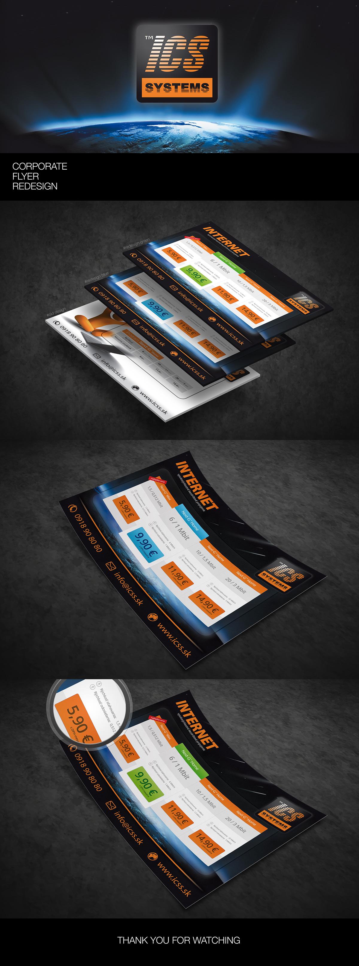 flyer Internet ISP Service Provider redesign