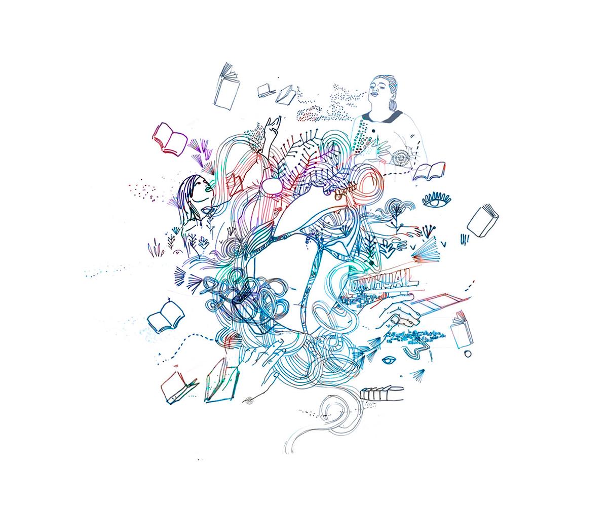 Espacio Quiñihual diseño 3 rico editorial ilustracion utopia estaciones tren poesia declamación