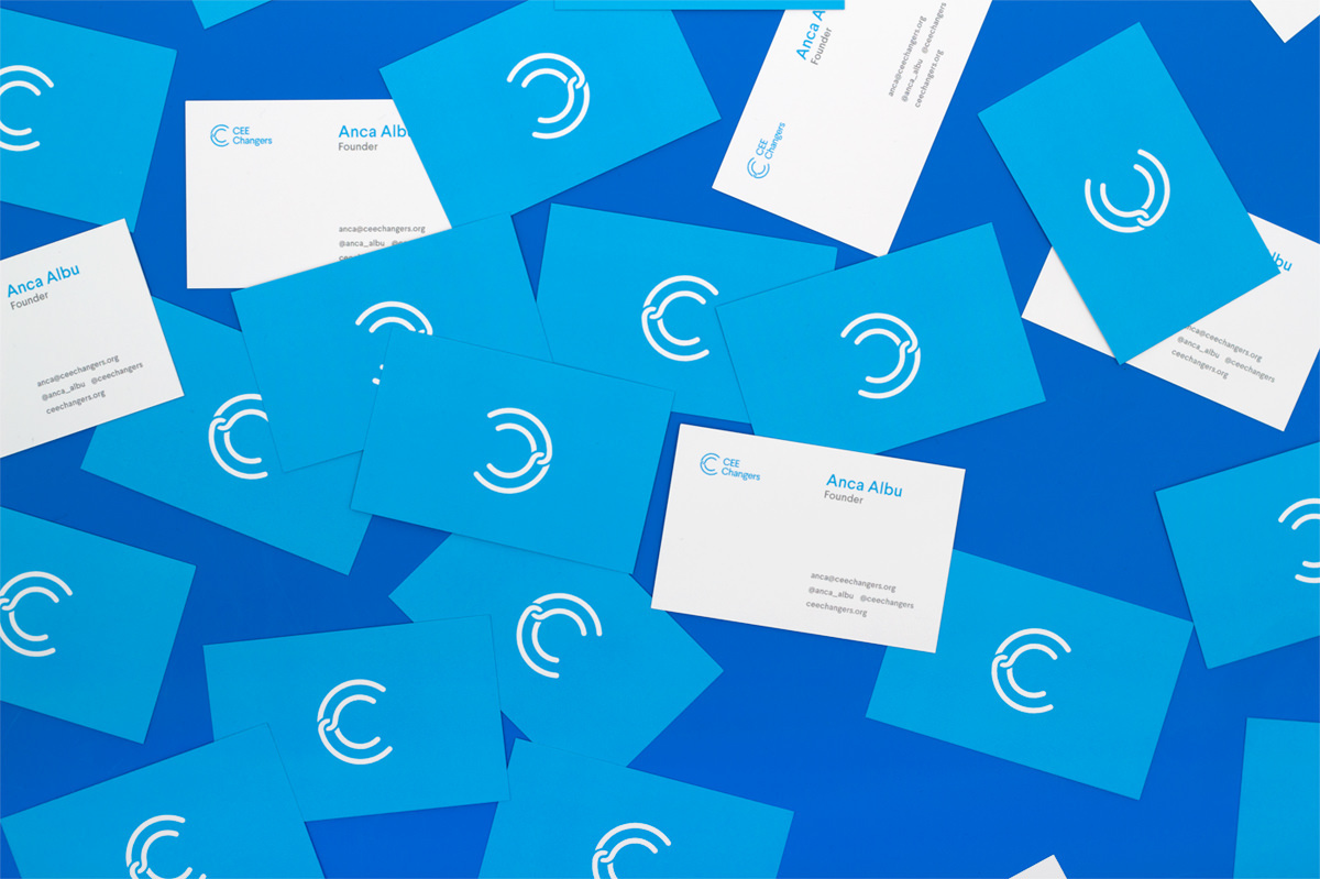 visual identity cee changers Startup connection minimal simple Icon mark logo community