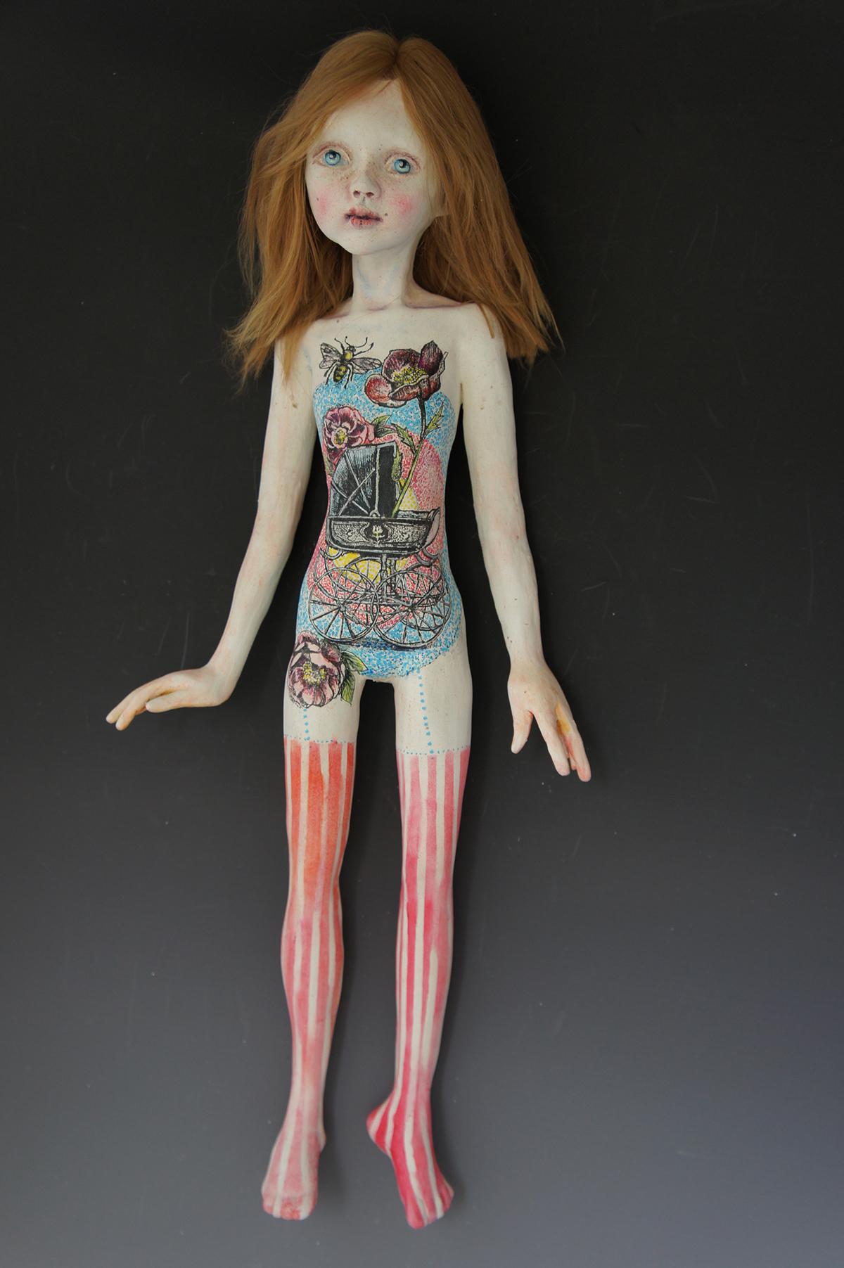 ceramic doll figure model