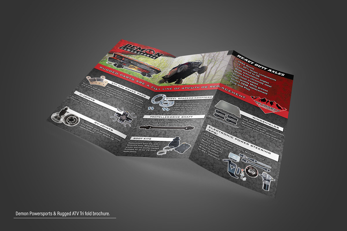 Demon Powersports & Rugged ATV product visuals  on Behance