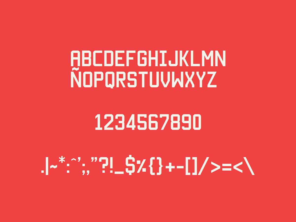 font typo bold black type letters Heavy chile bamundi fuentes tipografia letra free download