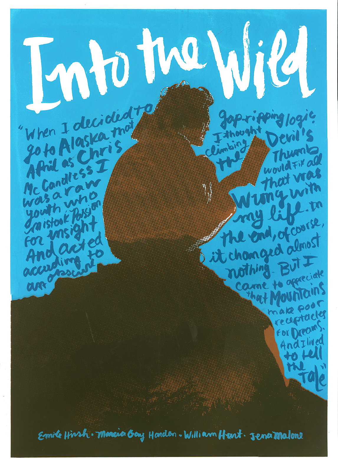 alejandro alvarez into the wild movie poster silkscreen