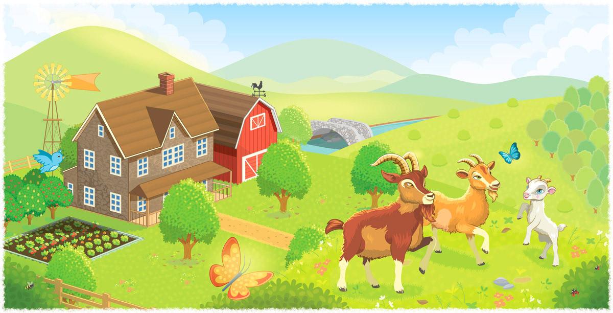 goats,troll,farm,children,book,grass,river,Classic,kidlit,tale
