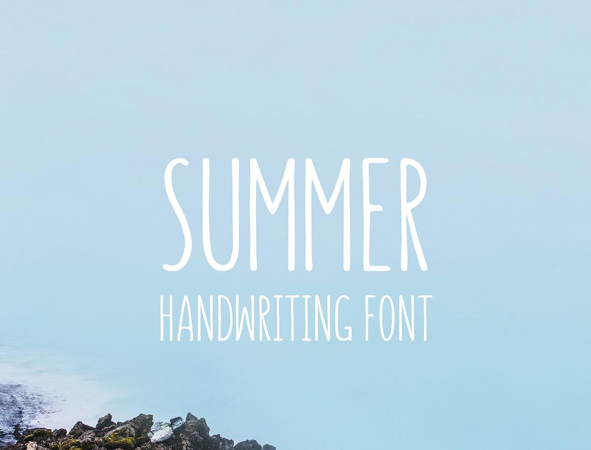 Summer Handwriting Font On Behance