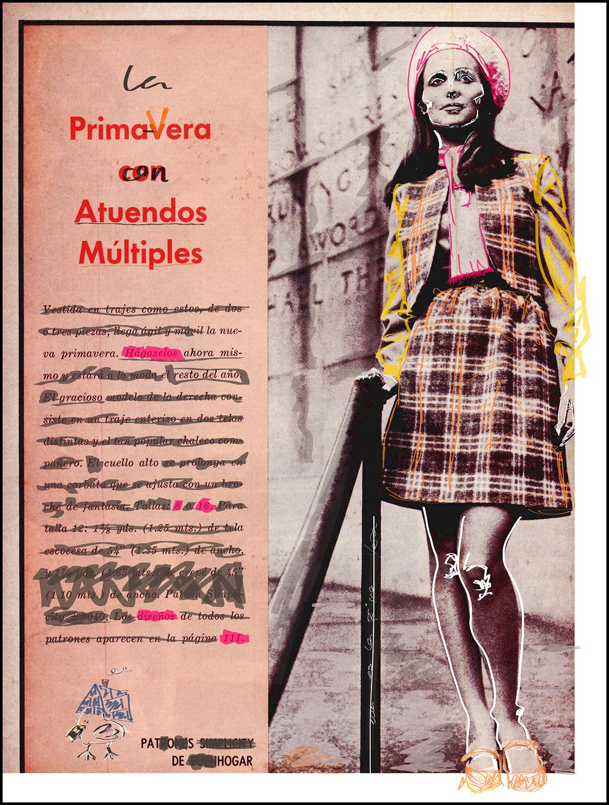 Intervención digital escaneo Buenhogar vintage