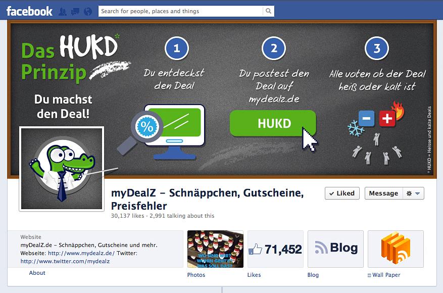 Mydealz Facebook