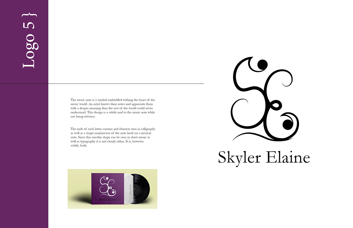 Skyler Elaine Logo Book On Behance