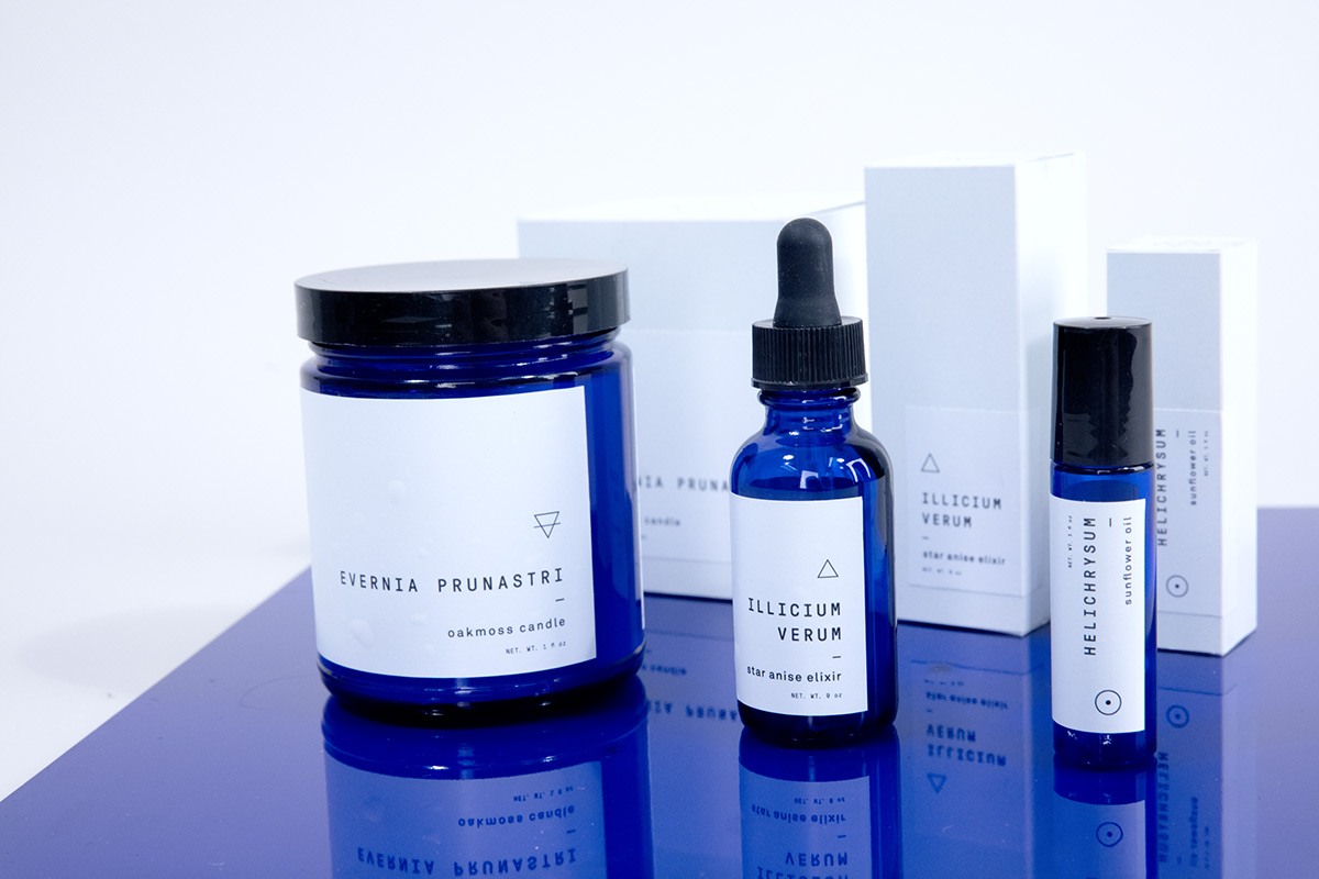 packaging design package dieline minimal blue apothecary alchemy symbol modern occult