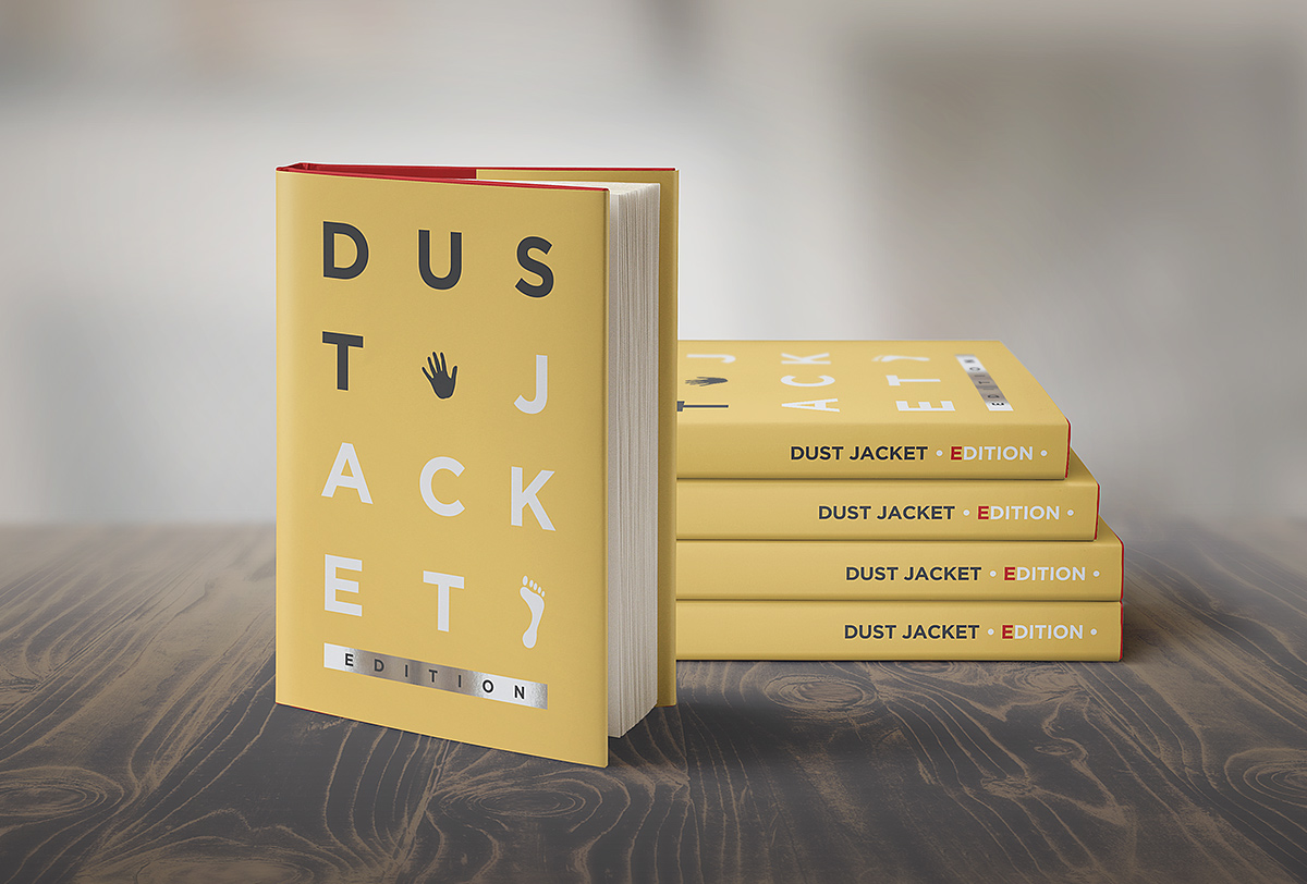 Book Dust Cover Template : Book mock up dust jacket edition on behance