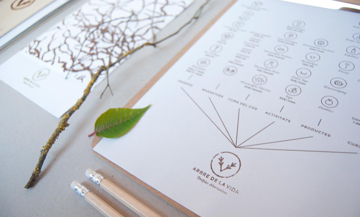 arbre vida arbol vida tree life universidad University degree project Nature alternative therapies Terapias Alternativas naturaleza logo identity homeopathy Tree  wood