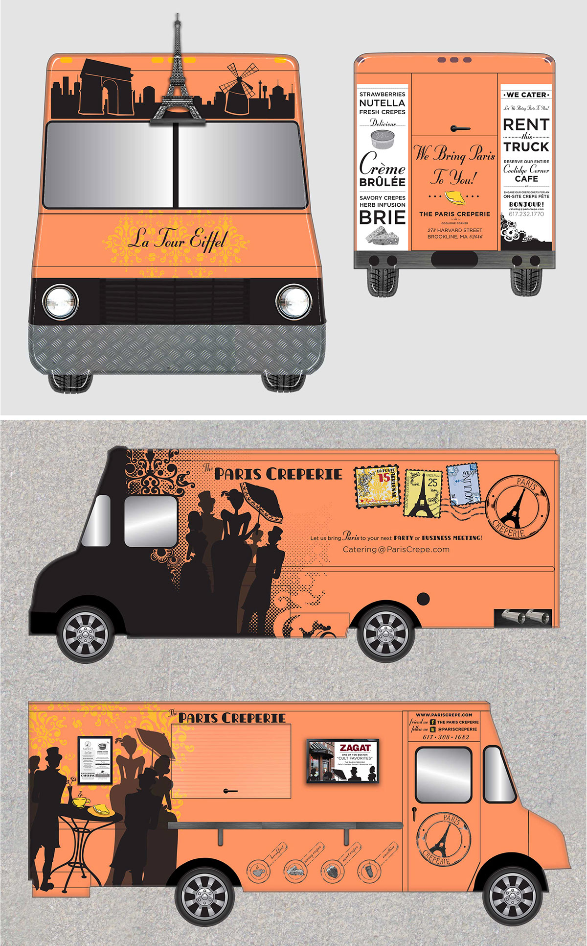 Paris creperie on behance for Best food truck designs