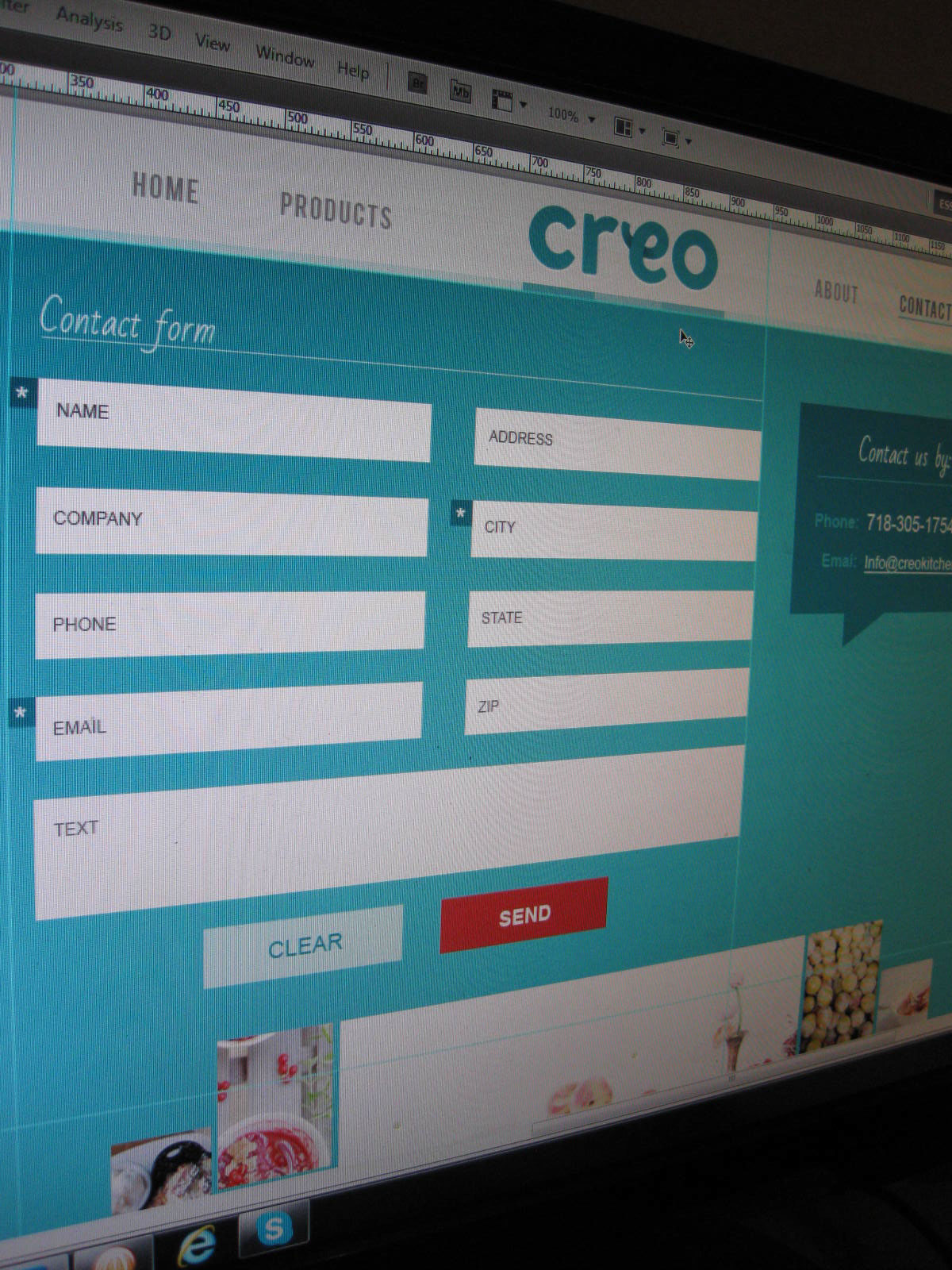 Creo kitchen website on behance - Creo projects ...